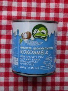 Gecondenseerde kokosmelk, vegan