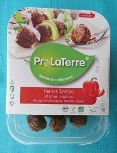 Prolaterre harissa balletjes, vegan