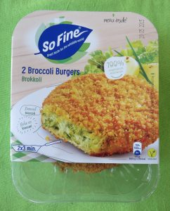 Sofine broccoli burgers, vegan