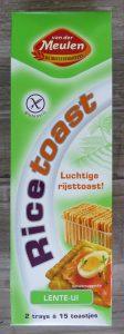 Vandermeulen vegan rice toast