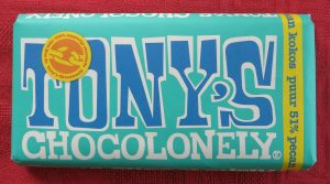 Tony chocolonely kokos-pecan, vegan