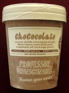 Grunschnabel chocolade ijs, vegan