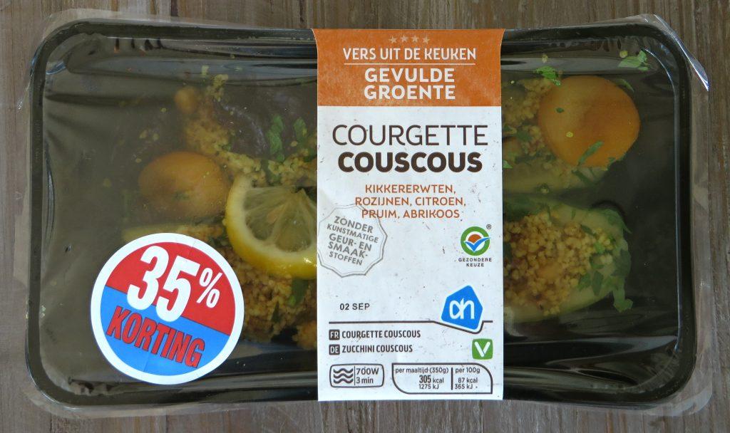 AH courgette met couscous, vegan