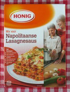 Honig mix voor Napolitaanse lasagnesaus, vegan