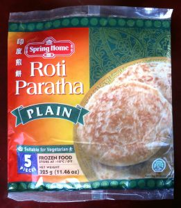 Spring Home roti paratha, vegan