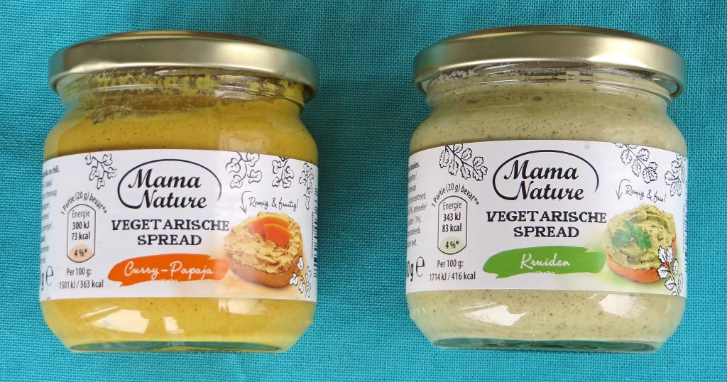 Aldi vegetarische spreads, vegan