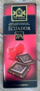 Lidl frambozen chocola, vegan