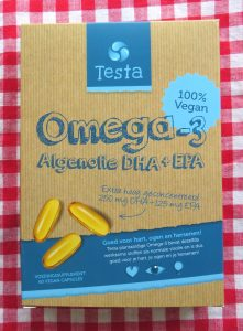 Testa omega 3 algenolie, vegan