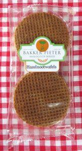 Bakker Pieter hazelnoot stroopwafels, vegan