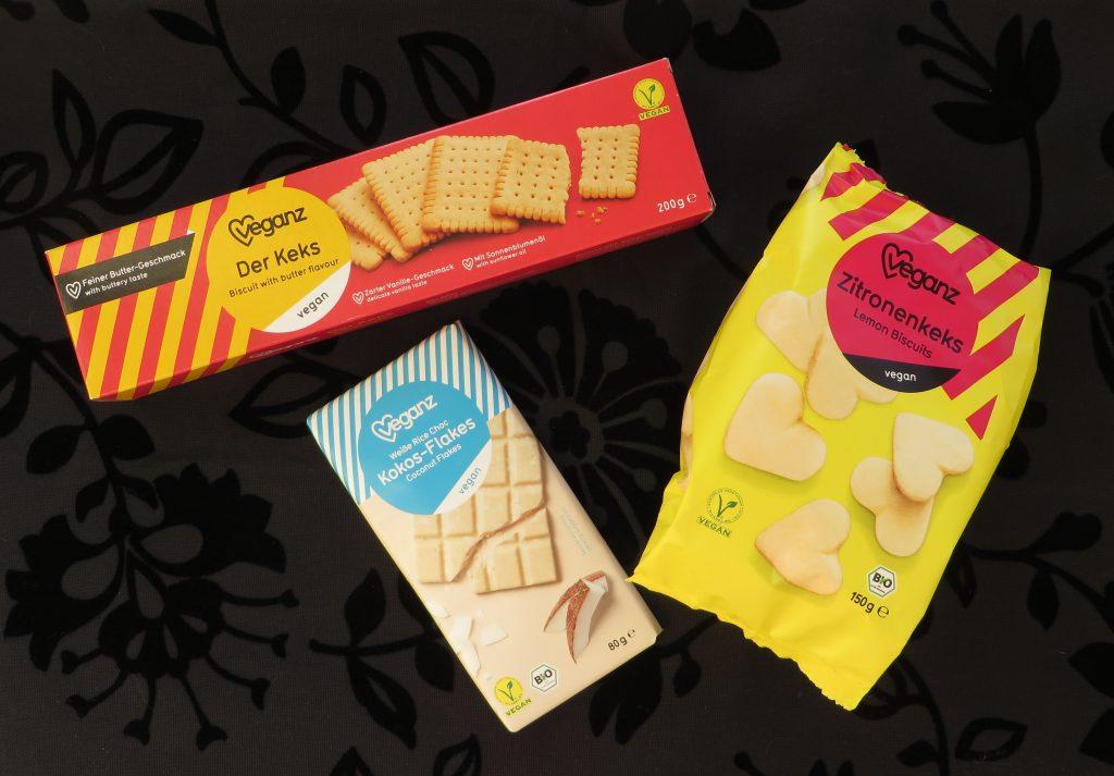 Veganz koekjes en chocola, vegan