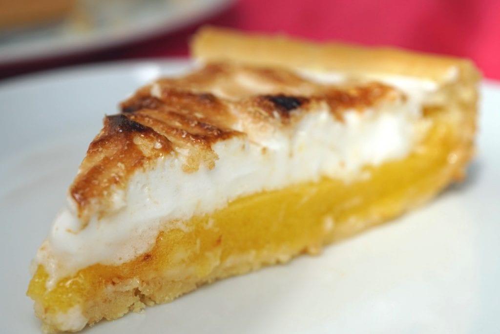 Citroen meringue taart, vegan