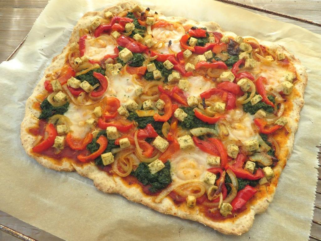 Pizza met Veggi Filata mozzarella, vegan