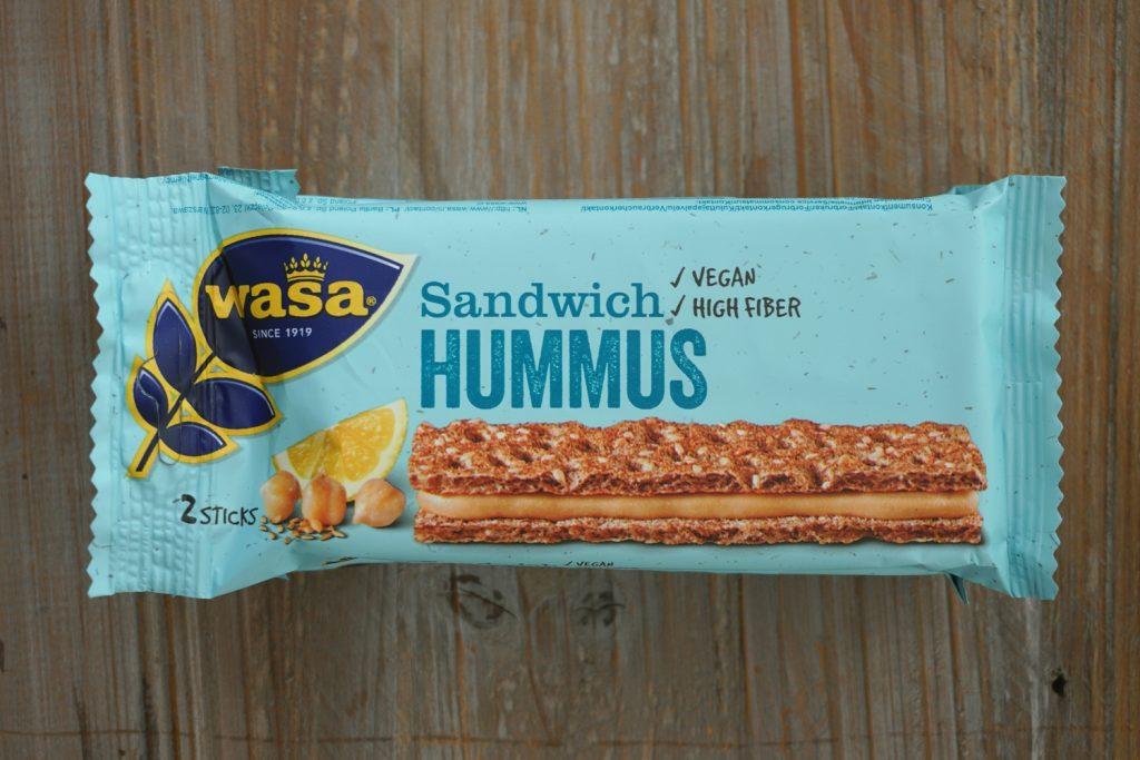 Wasa hummus sandwiches, vegan