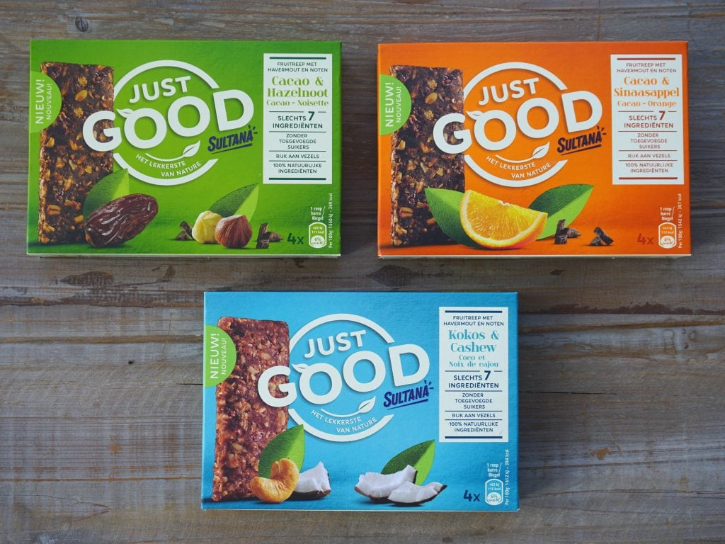 Sultana Just Good noten-fruitrepen, vegan