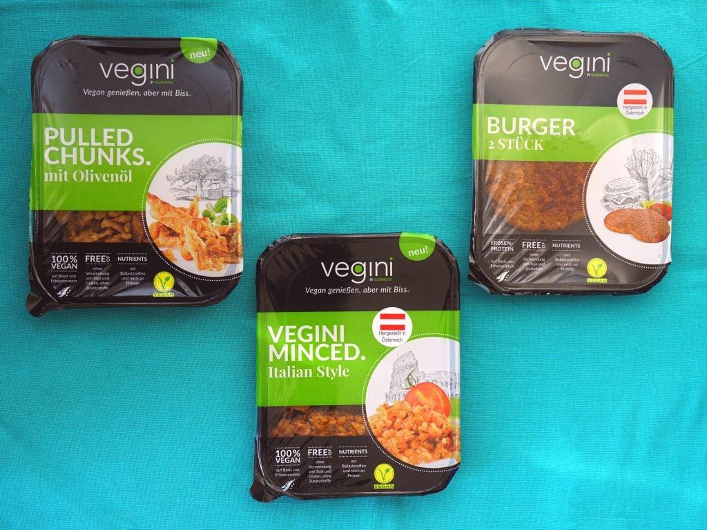 Vegini vleesvervangers van erwteneiwit, vegan