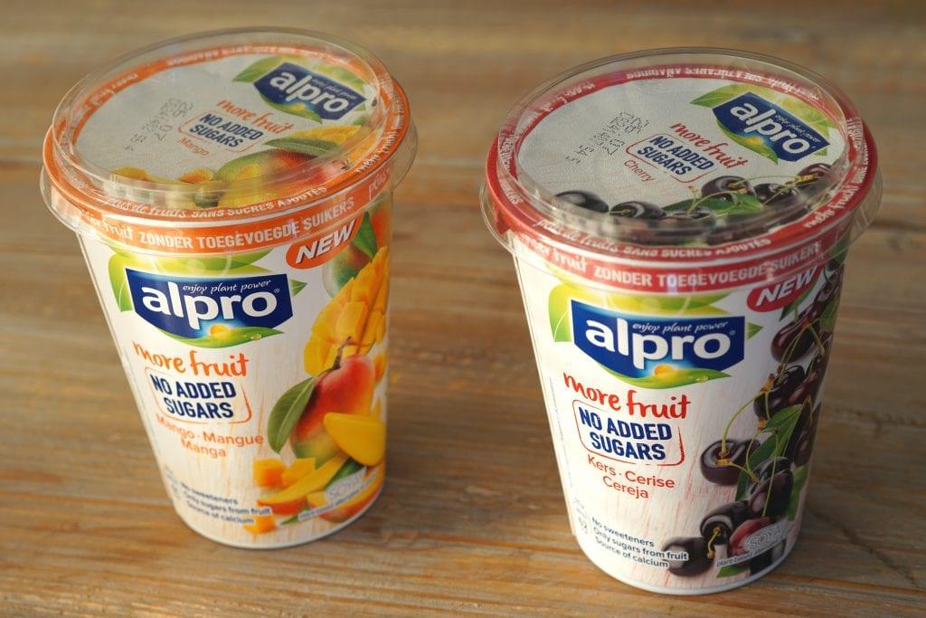 Alpro sojayoghurt met fruit zonder toegevoegde suiker, vegan