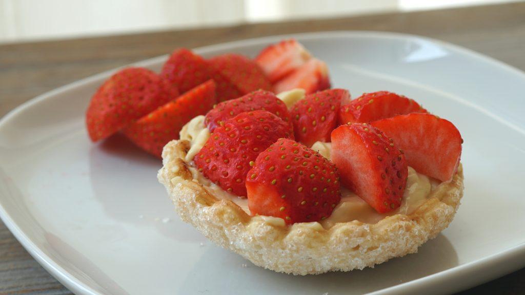 Suikerschelpen met vegan banketbakkersroom