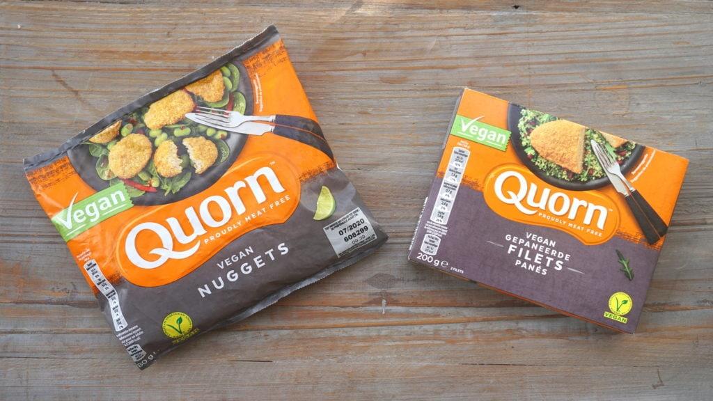 Quorn vegan nuggets en schnitzel diepvries