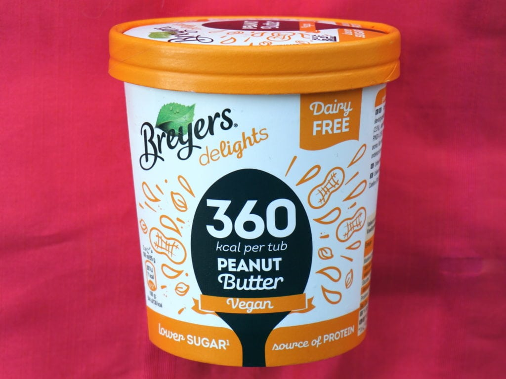 Breyers vegan peanut butter halo top