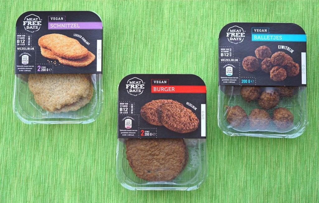 Aldi vegan burgers, schnitzel en balletjes