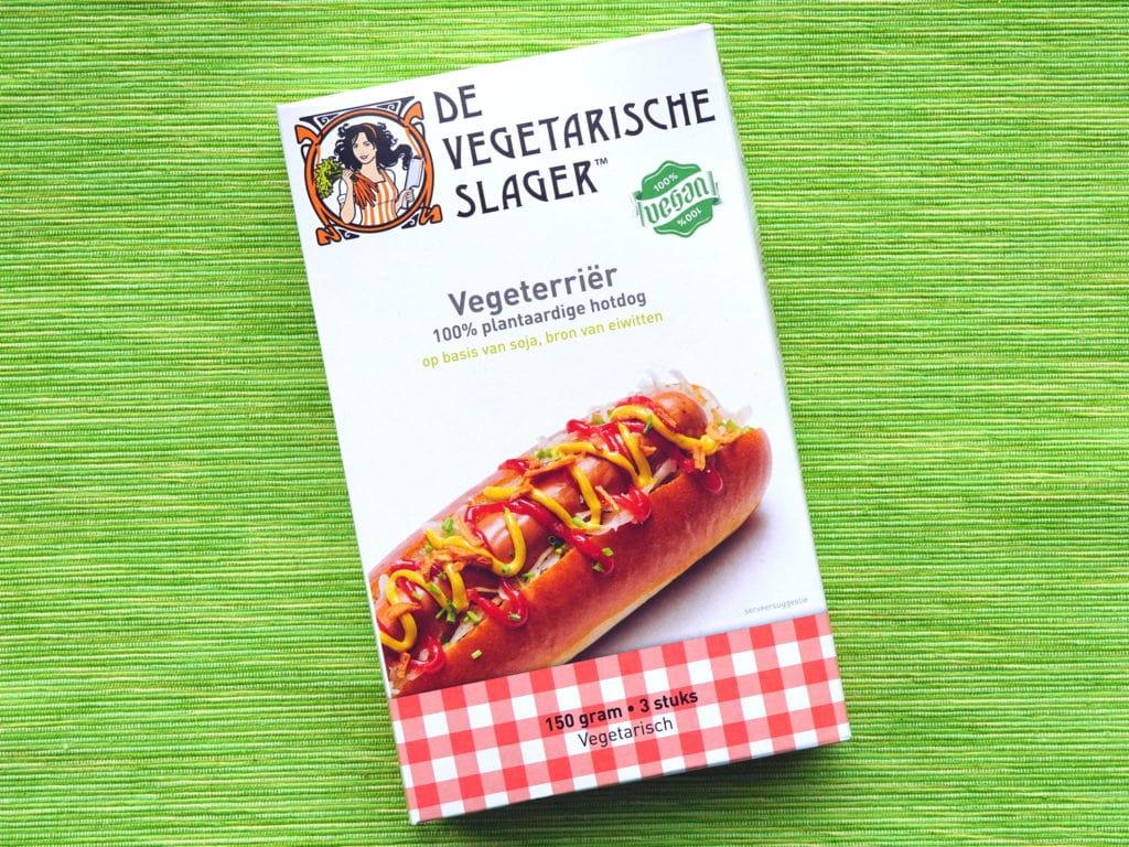 Vegeterriërs vegan knakworst hotdog Vegetarische Slager