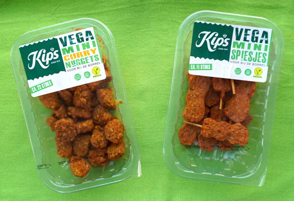 Kips vegan spiesjes en nuggets