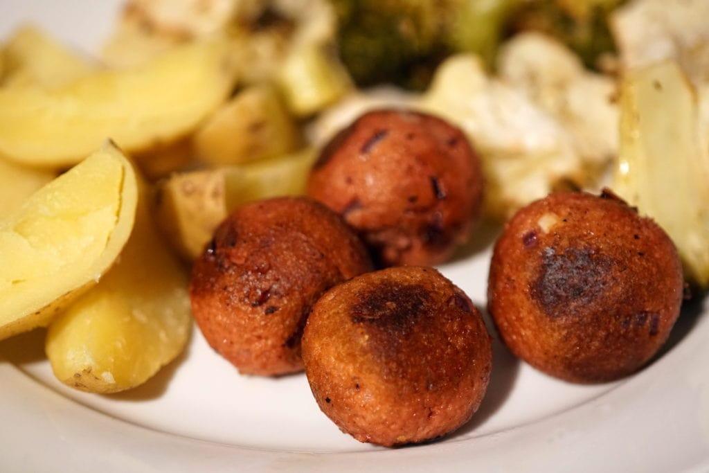 Incredible rauw vegan gehaktballen Garden Gourmet
