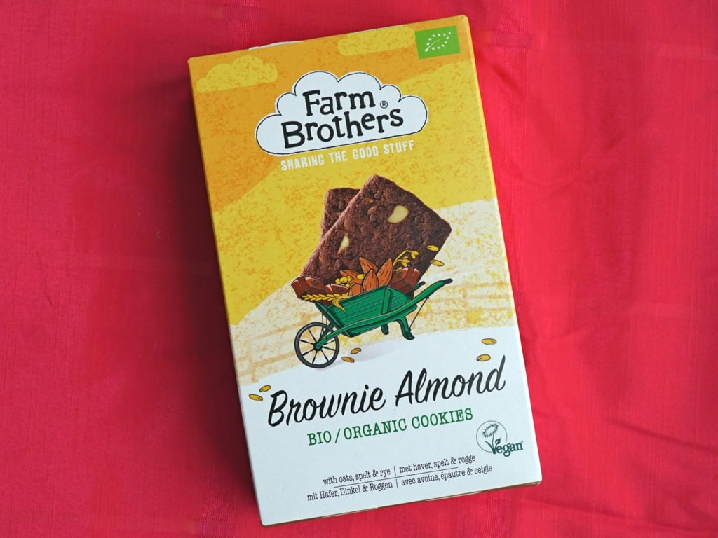 Farm Brothers brownie almond cookies vegan