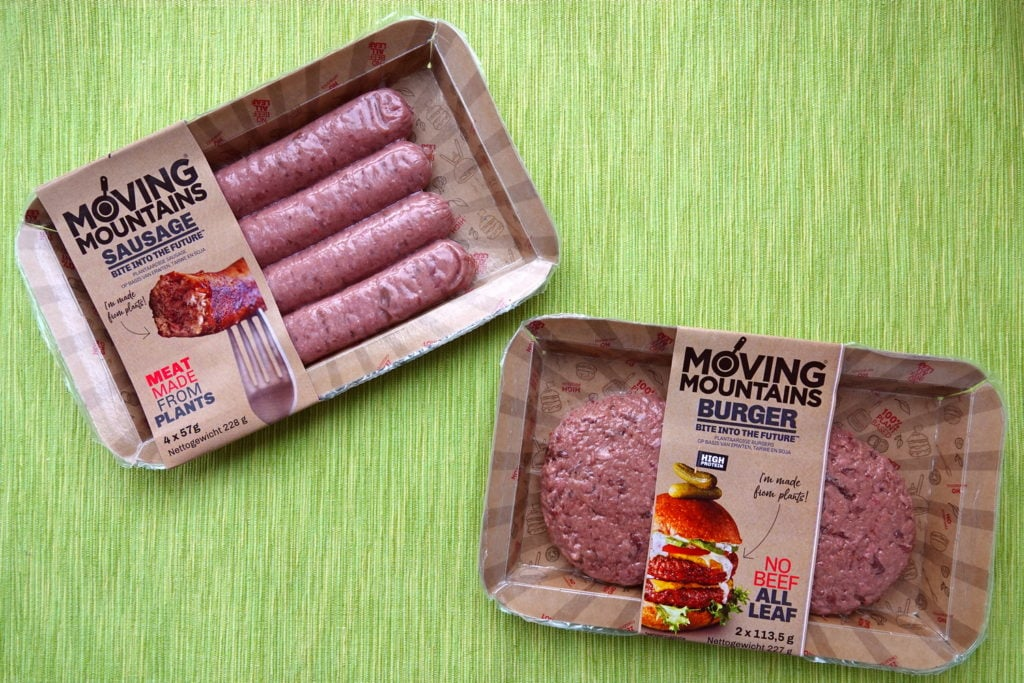Moving Mountains vegan burgers en braadworst
