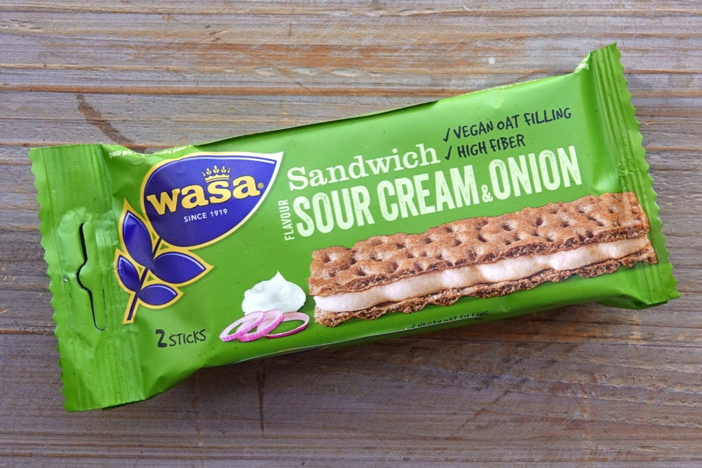 Wasa vegan sour cream onion sandwich