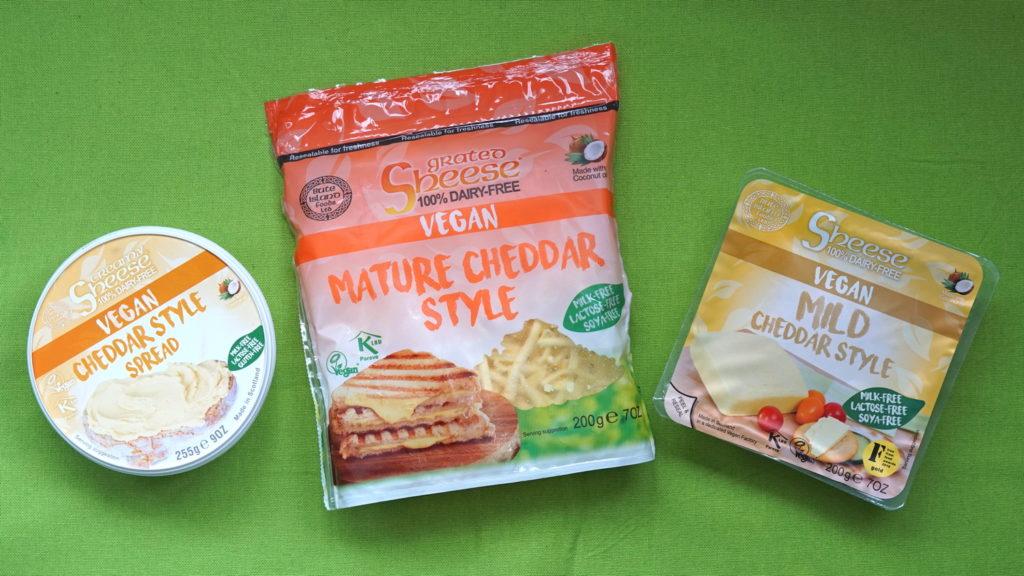 Sheese Bute Island Mature Cheddar, Mild Cheddar, Cheddar style spread