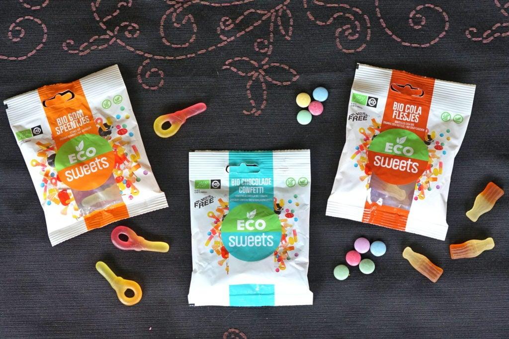 Vegan smarties, colaflesjes, snoepsleutels Eco-Sweets