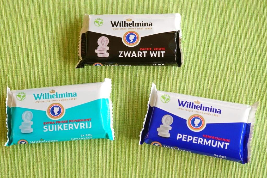 Vegan Wilhelmina pepermunt en zwart wit