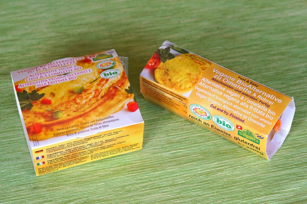 Vegan en omelet en quiche ei-vervanger Soyana