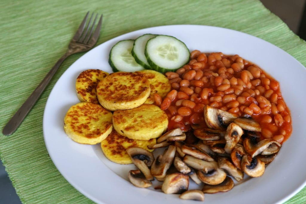 Soyana vegan omelet english breakfast