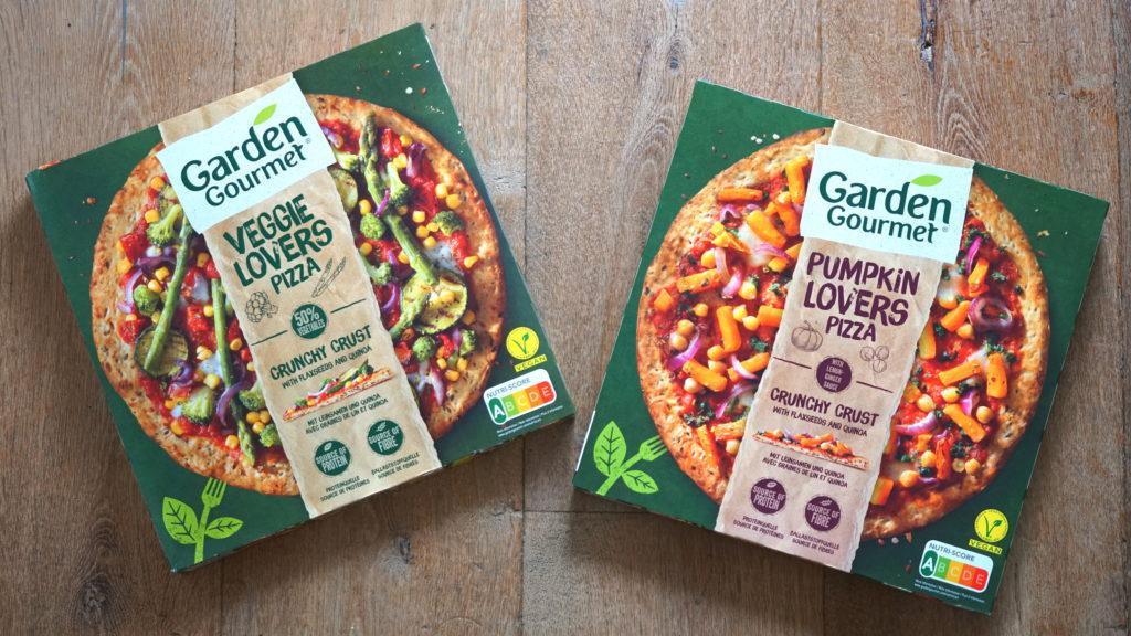 Garden Gourmet vegan pizza veggie lovers pumpkin lovers