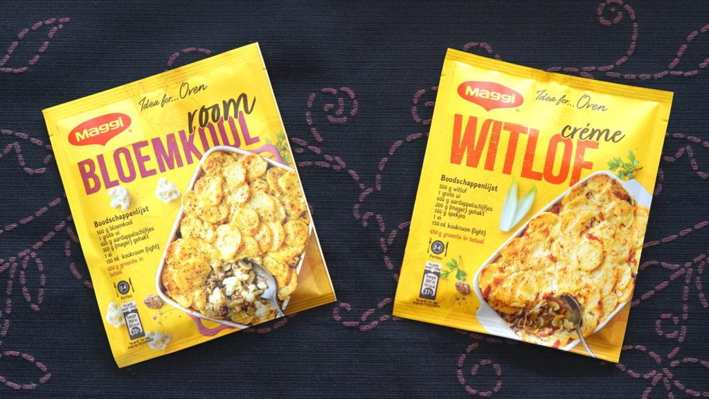 Maggi mix voor bloemkoolschotel en witlofschotel vegan